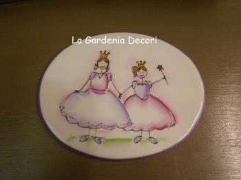 Targhetta con 2 principesse