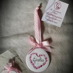 Bomboniera cuore rosa