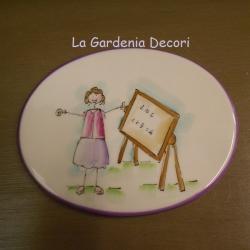 "targa decorativa ""Cara Maestra"""