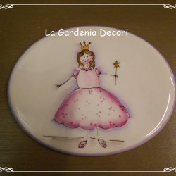 targa decorativa con Principessa