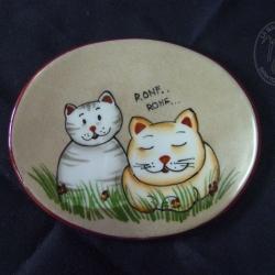 Targa ovale con gatti