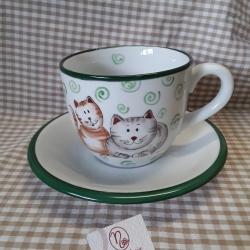 Tazza da colazione con gatti