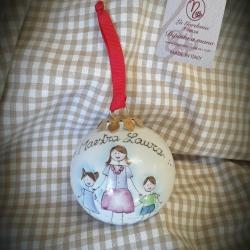 Palla di Natale maestra e bimbi